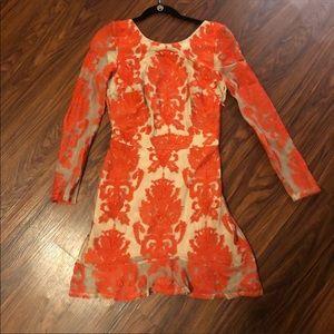 For Love & Lemons San Marcos Dress Long Sleeve M
